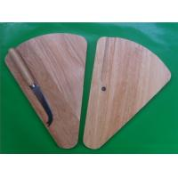 China Triangle shape wooden cheese board with S/S knife on sale