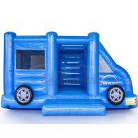 Cheap Motor Vehicle Inflatable Jumpers Commercial 0.55mm Pvc Moon Bounce House for sale