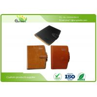 Quality Exquisite Daily Work Leather Loose Leaf Notebook With Inner Wood Paper Protect Eyesight wholesale