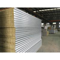 Cheap Colour Coated Steel Rock Wool Sandwich Panel Roofing Sheets Fire Protection Rating A1 for sale