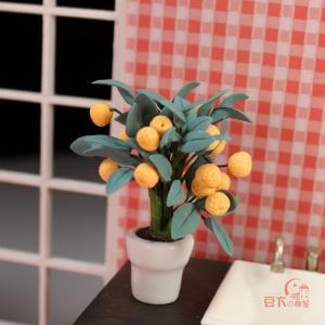 China Mini furniture model Siwan clay flower pot small kumquat HC004 on sale