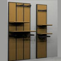 China MDF Clothes/Wall Racks/Garment Stands, Stainless Steel and Glass on sale