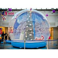 Quality PVC cloth Airblown Snow Globe Inflatable Holiday Decor with Santa Tree print wholesale