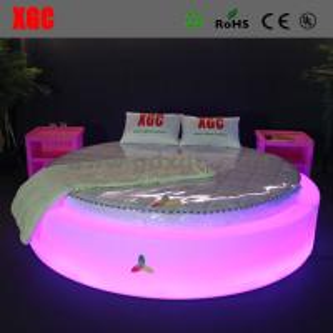 Modern bedroom furniture design round bed with led light
