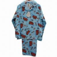 Quality Full cotton winceyette pajama with all over printing wholesale