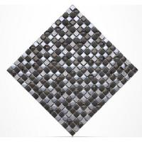 Quality Diamond Crystal Plated Glass Kitchen Backsplash Mosaic Tiles 15 X 15mm wholesale