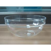 Quality 282g Round Salad Clear Acrylic Bowl With Customized Logo wholesale