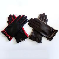 Quality Classic Womens Soft Leather Gloves Plain Style Customized Size For Spring / Autumn wholesale