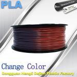 Quality Variable Temperature 3D Printer PLA Color Changing Filament 1.75 / 3.0mm wholesale