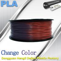 Quality Variable Temperature 3D Printer PLA Color Changing Filament 1.75 / 3.0mm wholesale