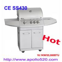 China 3 Burner Gas Barbecue Grill Plus Side Burner on sale