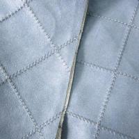 Buy cheap Embroidered Checker Sewed Faux Micro Suede Fabric with T/C Backing, Suitable for from wholesalers