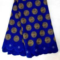 China 100 cotton heavy african lace fabric swiss voile lace for fashion dress / garment on sale