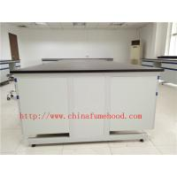 Quality 3000 mm White Anti Strongest Corrosion / Acid / Alkali Wood Lab Benches Furniture for University / College Laboratory wholesale