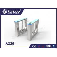 Quality Stable Office Security Gates / Optical Barrier Turnstiles RFID Card Reader wholesale