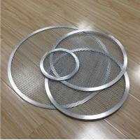Cheap FDA Stainless Steel Barbecue Grill Netting Screen / Mesh Pizza Trays Free Sample for sale