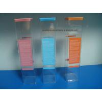 Quality Extrusion Clear Plastic Square packaging tube with Lids plastic printing tube wholesale