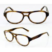 Quality Fashion Oval Acetate Mens Eyeglasses Frames, Leopard Acetate Optical Glasses Frames wholesale