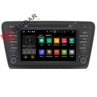 Quality Iphone & Android Car DVD Player Skoda Octavia Head Unit ARM Cortex A9 Quad Core 1.6GHZ wholesale