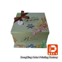 Quality Embossing 12 Inch Cake Packaging Boxes Biodegradable Delicate Bow Tie Design wholesale