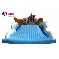Cheap Wide Children Blow Up Water Slide , Childrens Outdoor Playsets With Pirate Logo for sale