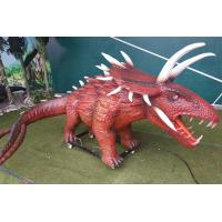 China Outdoor Amusement Realistic Animatronic Dinosaur Triceratops For Kids on sale
