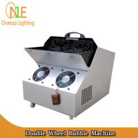 Quality 300W Double Wheel Bubble Machine 4.8L / h Bubble Making Machine DJ Light manufacturer wholesale