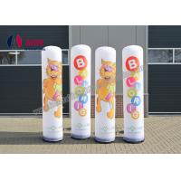 China Outdoor Inflatable Advertising Blow Up Man Post Lamp Inflatable Pillar Shape on sale