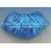 Quality Single or double elastic edge, plastic light blue shoe cover medical disposables products wholesale