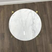 Quality White Marble Stone Countertops Modern Center Coffee Table Tops For Living Room wholesale