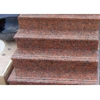 Quality Red Straight Granite Step Treads For Indoor Outdoor Step Finish Optional wholesale