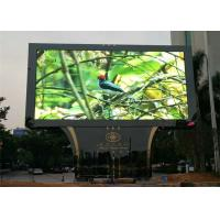 China Full Color Outdoor Advertising Led Display Screen RGB P6 P8 P10 Iron / Steel Cabinet on sale