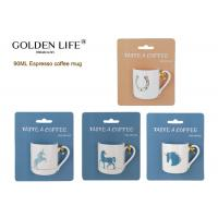 Buy cheap Daily use 90cc espresso cup straight shape,new bone china mug with unicorn from wholesalers