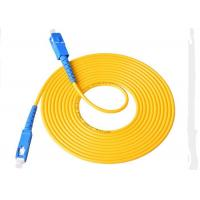Quality 3.00mm 3M SC - SC Fiber  Patch Cord , LSZH / PVC Jacket Fiber Optic Jumper Cables wholesale