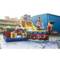 China Party Game Giant Pvc Inflatable Pirate Ship Slide and Trampoline for Children on sale