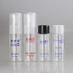 Cheap Clear 20ml Mini Plastic Pet Mist Spray Pump Bottle for Facial Toner for sale