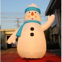 Cheap 8OZ Fabric Inflatable Christmas Decorations / Blow Up Snowman For Winter for sale