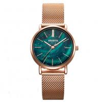China 32mm Lady Fashion Watch Stainless Steel Milanese Band Wrist Watch for Women on sale
