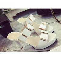 Quality Slip On High Heels Sandals , Ladies Dress Sandals With Metal Ornament Strap Upper wholesale