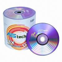 China 16x/4.7GB/120 Minutes Blank DVD-Rs with Shrink Wrap Pack, 120mm Diameter, 16X Recording Speed on sale