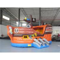 China 6x3m Mini Inflatable Bounce House Combo , Kids Outdoor Inflatable Pirate Ship on sale