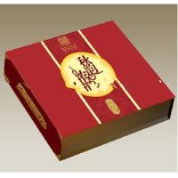 Cheap 12 * 12 * 3 inch Matte Lamination  Paperboard Chinese Red Moon Cake Packaging Boxes for sale