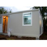 China Temporary Residence Modular Container House Steel Door With Sanitary Facilities on sale