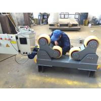 Buy cheap Foot Padel Butt Welding Machine / Pipe Turning Rolls With PU Wheel 0.75KW from wholesalers
