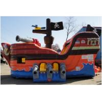 China Pirate Ship Slide Inflatable Combo Jumping House For Birthday Party on sale