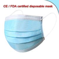 Buy cheap Non Woven Filterable Sanitary Mask Outdoor Face Mask With Elastic Earloop from wholesalers