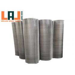 China Super Thin Micro Fluorocarbon Spraying Expanded Metal Wire Mesh Customized Roll Width Length for sale
