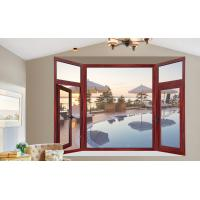 Quality Painted Fixed Aluminium Casement Glass Windows With Wood Grain Color wholesale