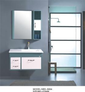 Quality Aluminium handles Square Sinks Bathroom Vanities 40inch optional Waste drain wholesale