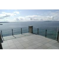 Cheap Balcony Railing Glass Price m2, Stainless Steel Square Pipe Railing Design for sale